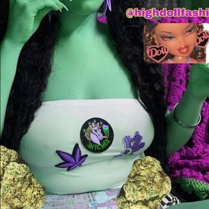 3 patch white weed X Care Bears X unicorn smoking
